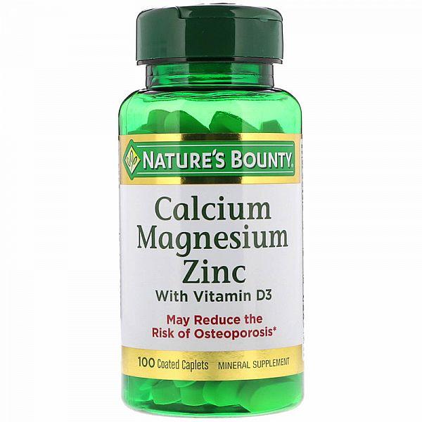 Кальций магний цинк и витамин D3 (Calcium Magnesium Zinc with Vitamin D3) 100 капсул