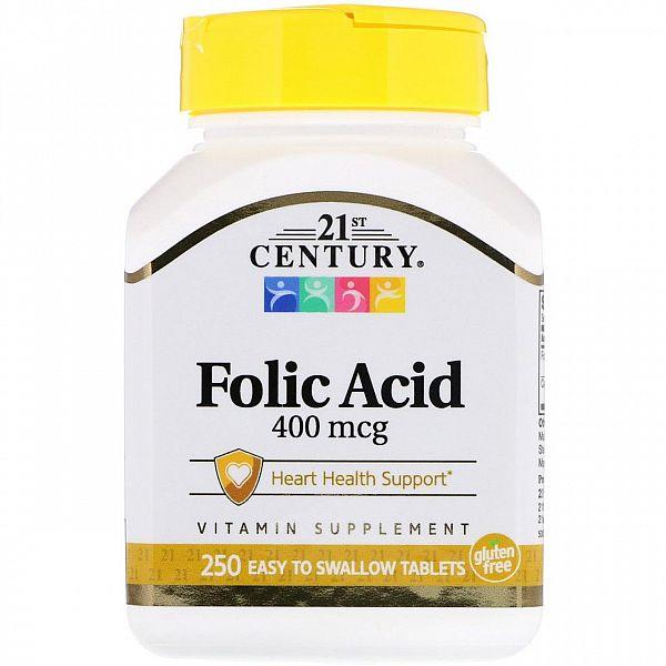 Фолиевая кислота (Folic Acid) 400 мкг 250 таблеток
