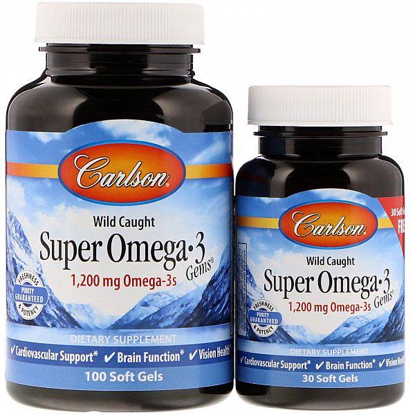 Рыбий жир (Super Omega-3) 1200 мг 100+30 капсул