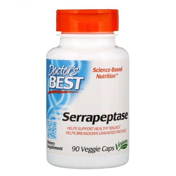 Серрапептаза (Serrapeptase) 40000 SPU 270 капсул
