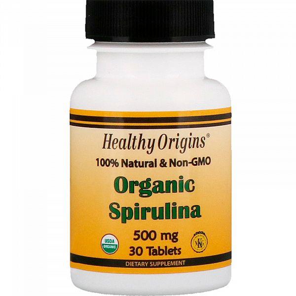 Спирулина органическая (Organic Spirulina) 500 мг 30 таблеток