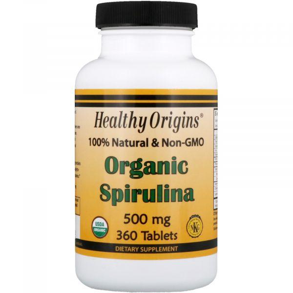 Спирулина органическая (Organic Spirulina) 500 мг 360 таблеток