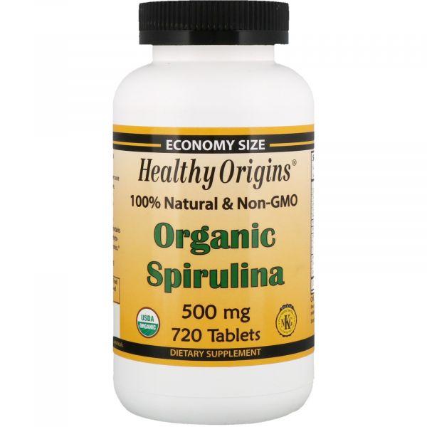 Спирулина органическая (Organic Spirulina) 500 мг 720 таблеток