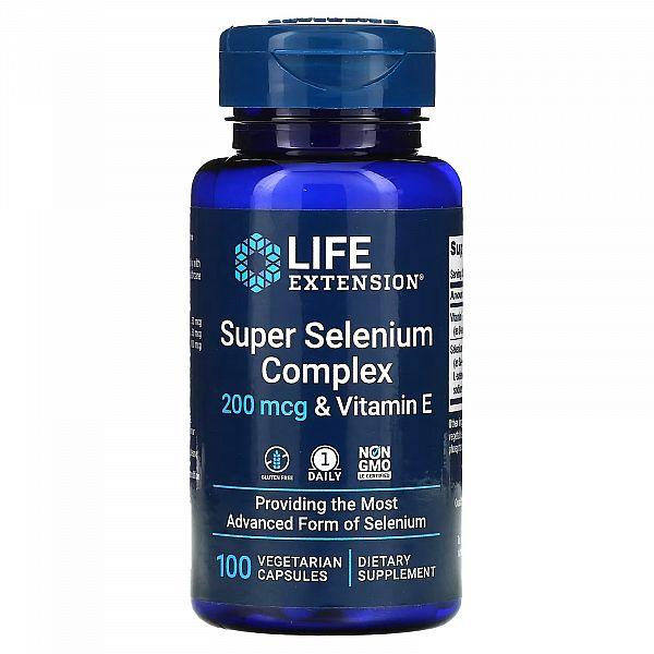 Селен с витамином E комплекс (Super Selenium Complex) 200 мкг/30 МЕ 100 капсул
