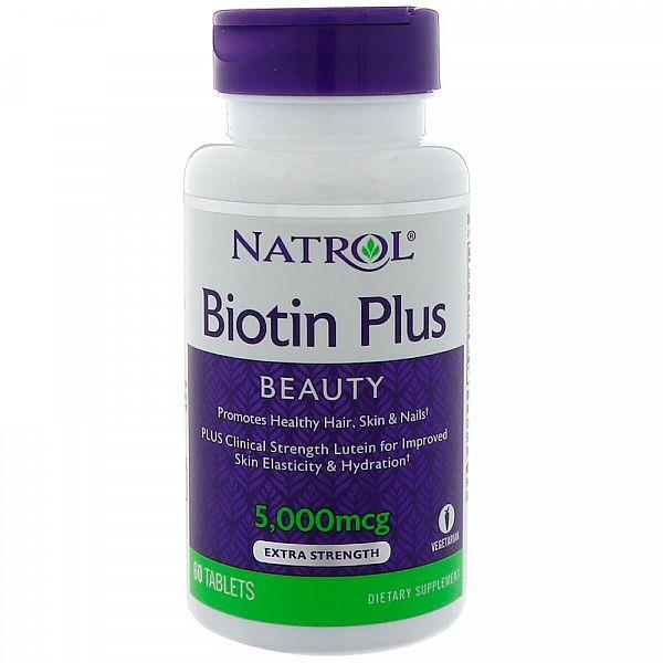 Биотин Плюс с Лютеином (Biotin Plus with Lutein) 5000 мкг/10 мг 60 таблеток