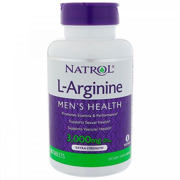 Аргинин (L-Arginine) 3000 мг 90 таблеток