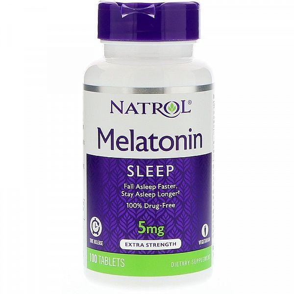 Мелатонин медленного высвобождения (Melatonin) 5 мг 100 таблеток