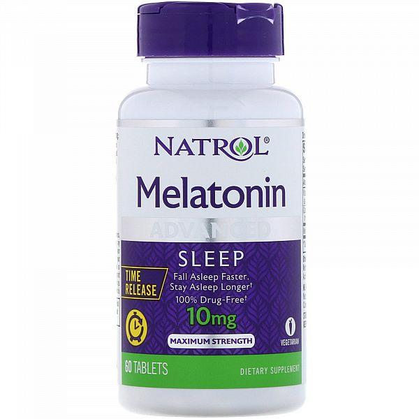 Мелатонин медленного высвобождения (Melatonin advanced sleep) 10 мг 60 таблеток