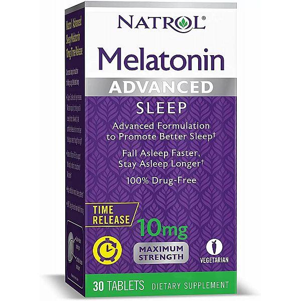 Мелатонин медленного высвобождения (Melatonin advanced sleep) 10 мг 30 таблеток