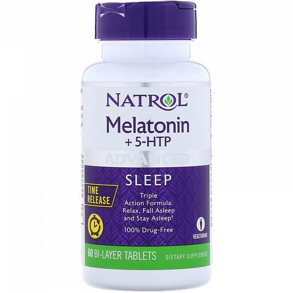 Мелатонин медленного высвобождения + 5-HTP (Advanced Sleep Melatonin +5-HTP) 6 мг/50 мг 60 таблеток