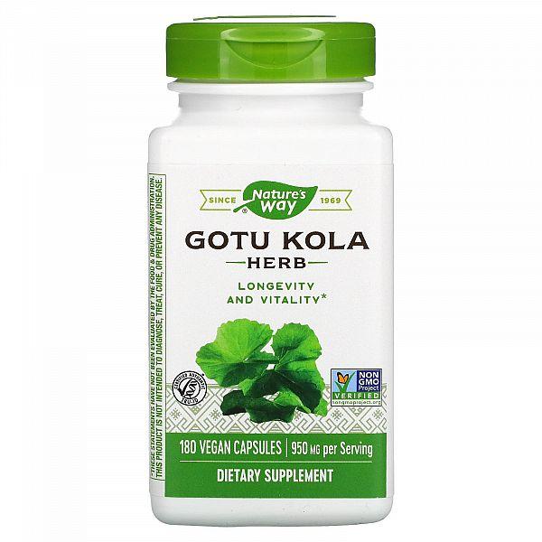 Готу кола (Gotu Cola) 475 мг 180 капсул
