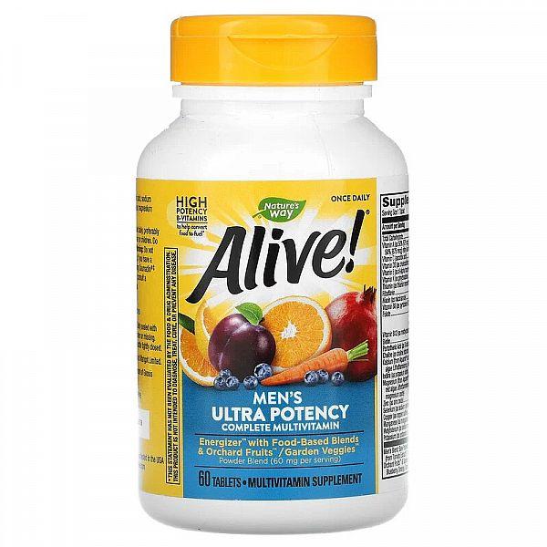 Мультивитамины для мужчин (Alive! Men's multi-vitamin) 60 таблеток