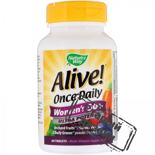 Мультивитамины для женщин 50+ (Alive! Women's multi-vitamin) 60 таблеток