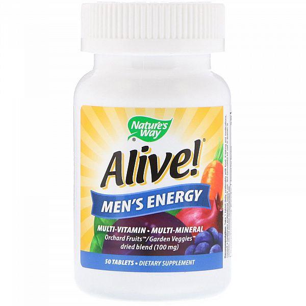 Мультивитамины для мужчин (Alive! Multivitamin-multimineral) 50 таблеток