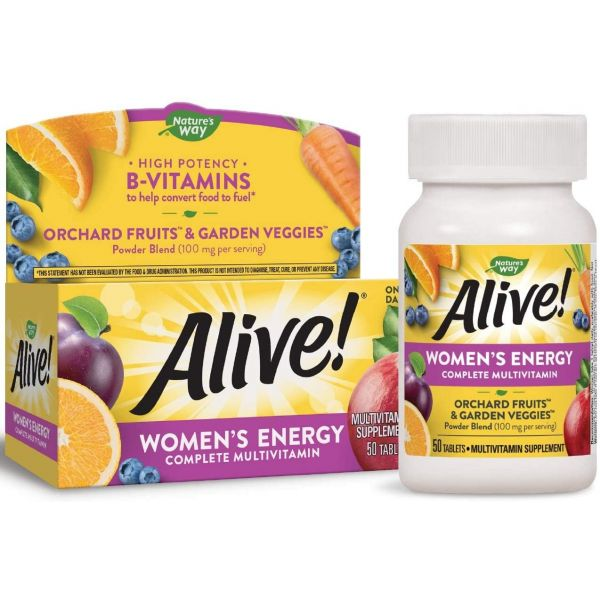 Мультивитамины для женщин (Alive! Women's Energy Multivitamin-Multimineral) 50 таблеток