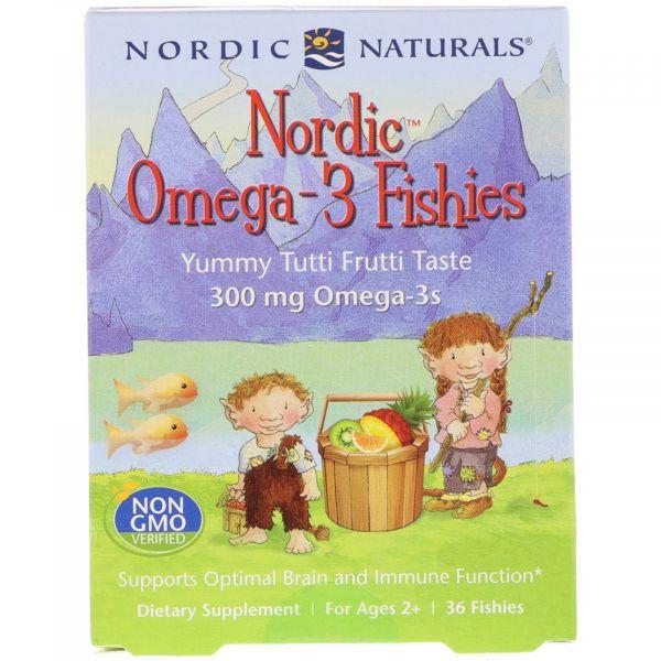 Рыбий жир для детей (Nordic Omega-3 fishies) 36 конфет с фруктовым вкусом