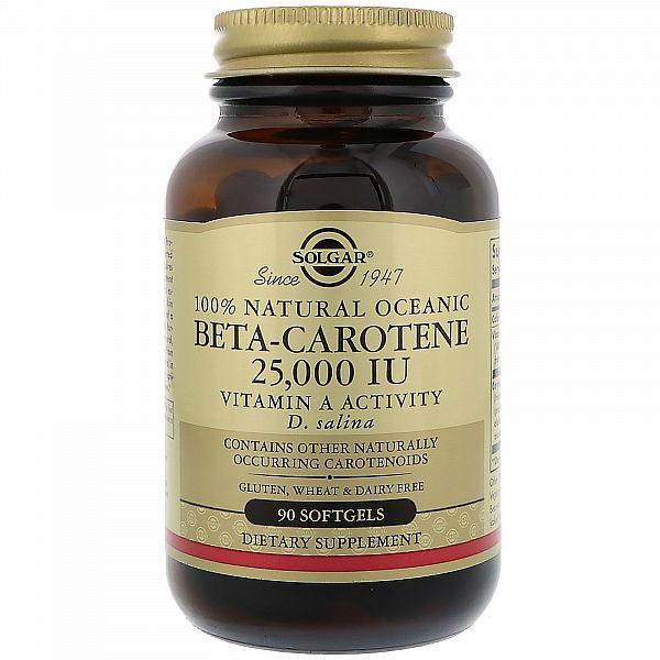 Бета каротин (Beta-Carotene) 25000 МЕ 90 капсул