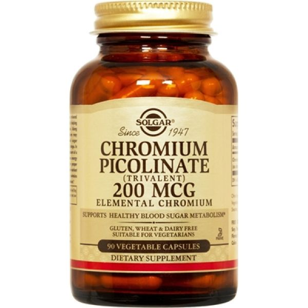 Хром пиколинат (Chromium picolinate) 200 мкг 90 капсул