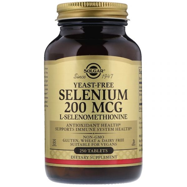 Селен без дрожжей (Selenium) 200 мкг 250 таблеток
