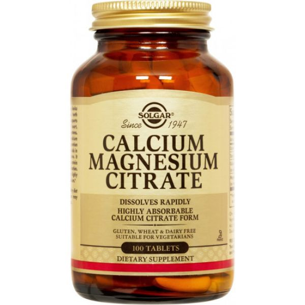 Цитрат кальция магния (Calcium Magnesium Citrate) 200 мг/100 мг 100 таблеток