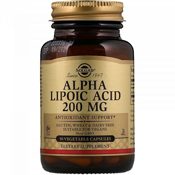 Альфа-липоевая кислота (Alpha lipoic acid) 200 мг 50 капсул
