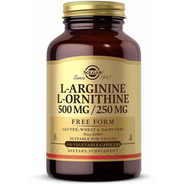 L-аргинин и L-орнитин (L-Arginine & L-Ornithine) 500 мг/250 мг 100 капсул