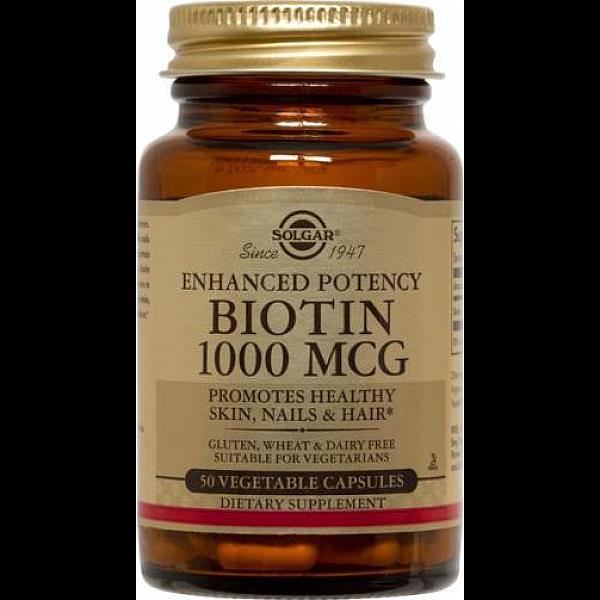 Биотин (Biotin) 1000 мкг 50 капсул