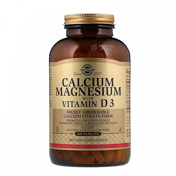Кальций и магний с витамином D3 (Calcium Magnesium with vitamin D3) 300 таблеток