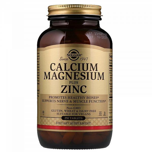 Кальций Магний с Цинком (Calcium Magnesium Plus Zinc) 250 таблеток
