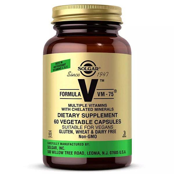 Мультивитамины формула VM-75 (Multiple vitamins with Chelated Minerals) 60 капсул