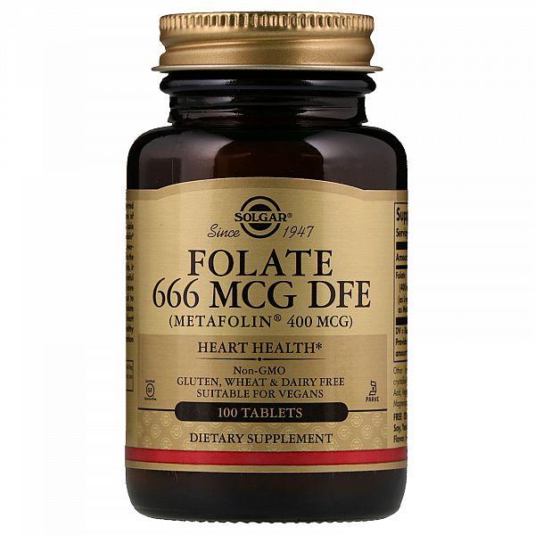Фолат (Folate as metafolin) 666 мкг DFE 100 таблеток