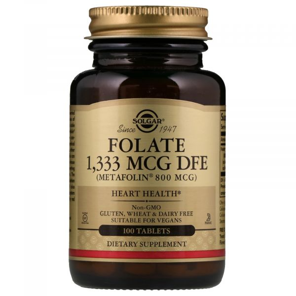 Фолат (Folate as metafolin) 1333 мкг DFE 100 таблеток