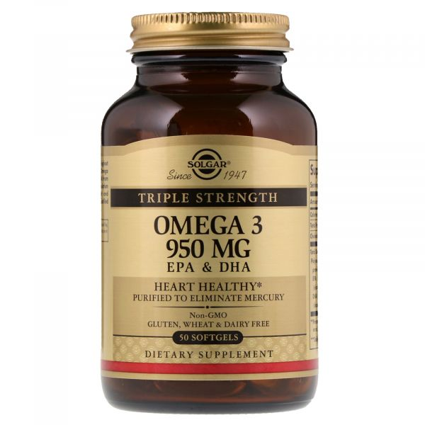 Омега-3 тройной силы (Omega 3 Triple Strength) 950 мг 50 капсул