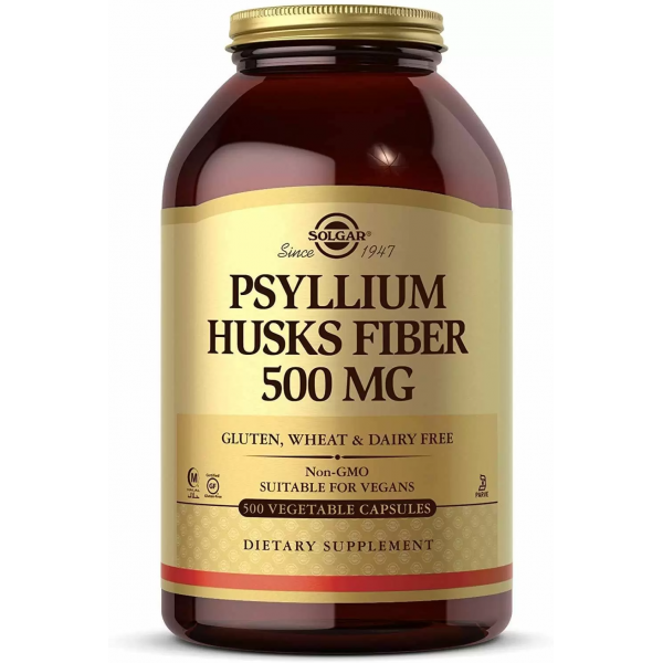 Псиллиум шелуха семян подорожника (Psyllium Husks Fiber) 500 мг 500 капсул