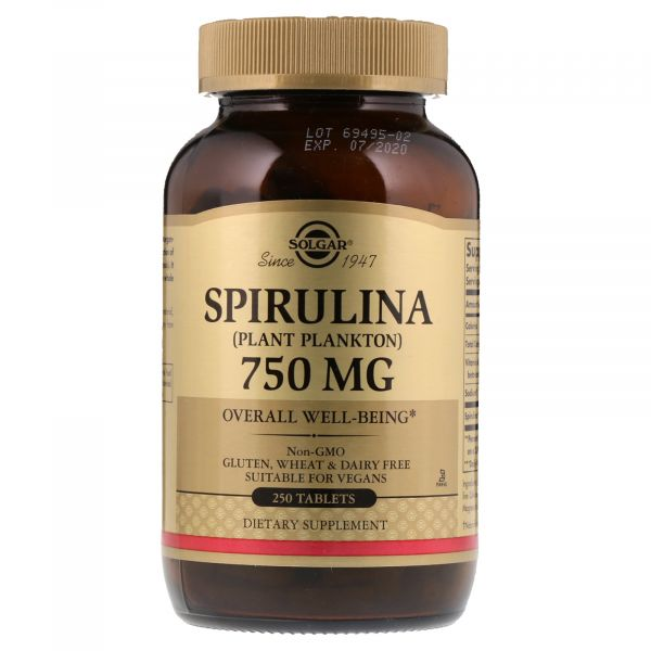 Спирулина (Spirulina) 750 мг 250 таблеток