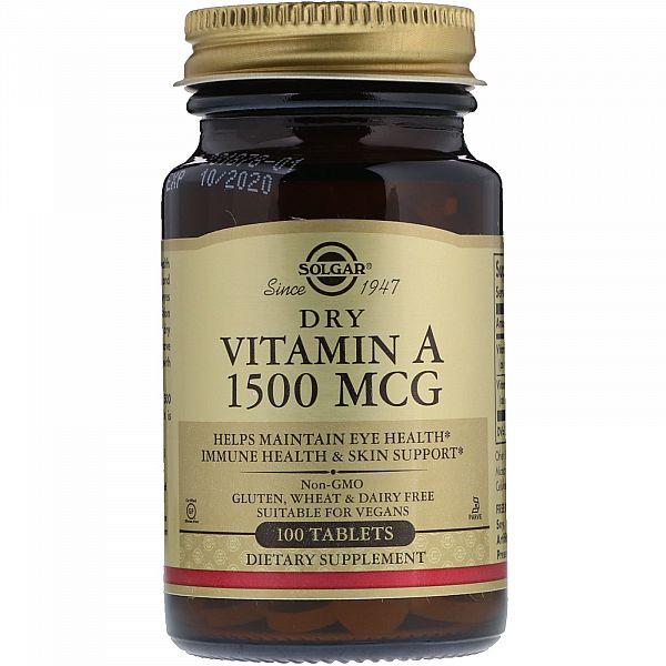 Витамин А (Dry vitamin A) 5000 МЕ 100 таблеток