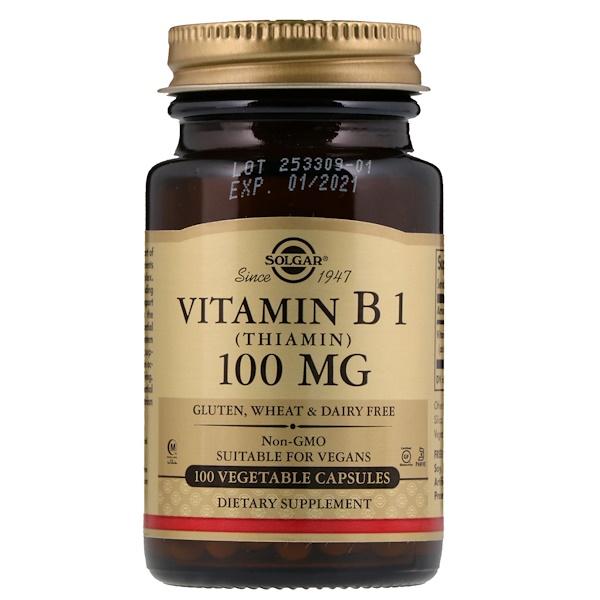 Витамин B1-Тиамин (Vitamin B1) 100 мг 100 капсул