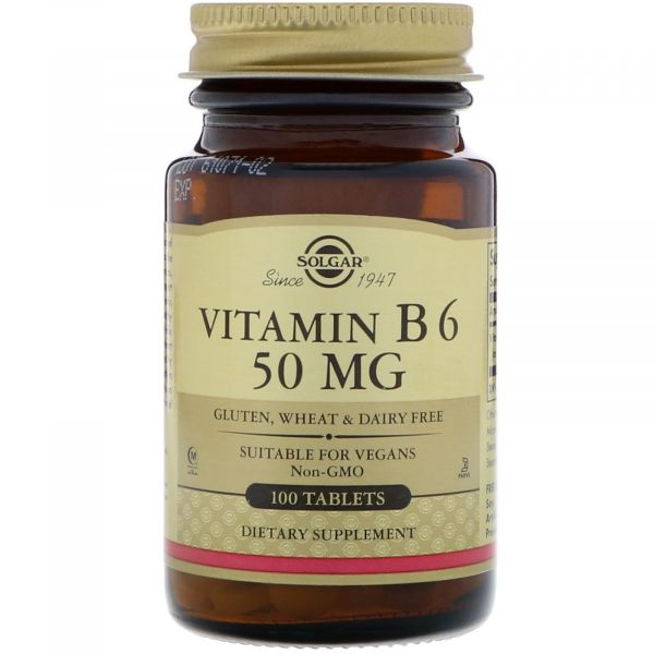 Витамин В6 (Vitamin B6) 50 мг 100 таблеток