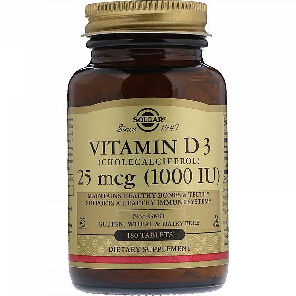Витамин D3 (Vitamin D3) 1000 МЕ 180 таблеток