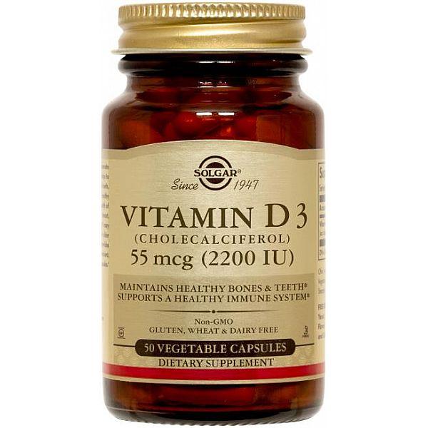 Витамин D3 холекальциферол (Vitamin D3 Cholecalciferol) 2200 МЕ 50 капсул