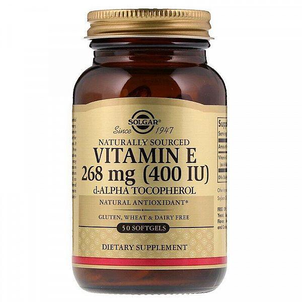 Витамин E (Vitamin E) 400 ME 50 капсул
