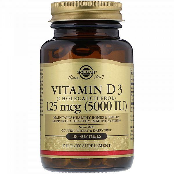 Витамин D3 (Vitamin D3) 5000 МЕ 100 капсул