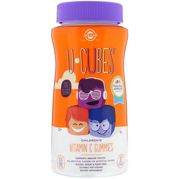 Витамин С жевательный (Children's Vitamin C U-Cubes) апельсин/клубника 90 конфет