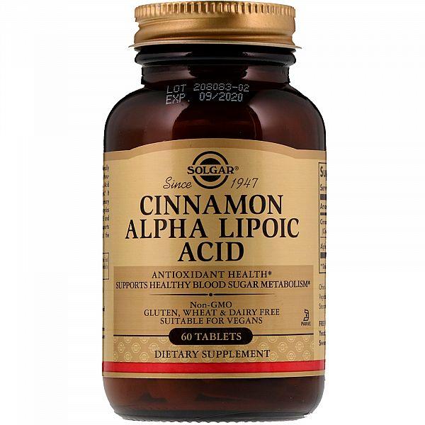 Альфа-липоевая кислота и корица (Alpha-lipoic acid and Cinnamon) 150 мг/350 мг 60 таблеток