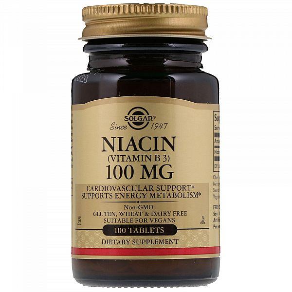 Витамин В3 (Niacin) 100 мг 100 таблеток