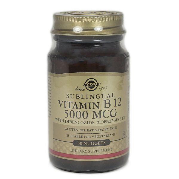 Витамин В12 (Vitamin B12) 5000 мкг 30 таблеток
