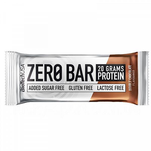 Протеиновый батончик (ZERO Bar) 50 г со вкусом двойного шоколада