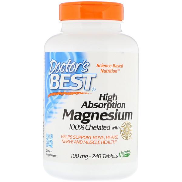 Магний хелат 100% (Magnesium Chelated) 100 мг 240 таблеток