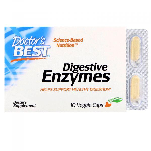 Пищеварительные ферменты (Digestive Enzymes) 10 капсул