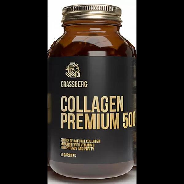 Коллаген премиум + витамин С (Collagen Premium) 500 мг/40 мг 60 капсул